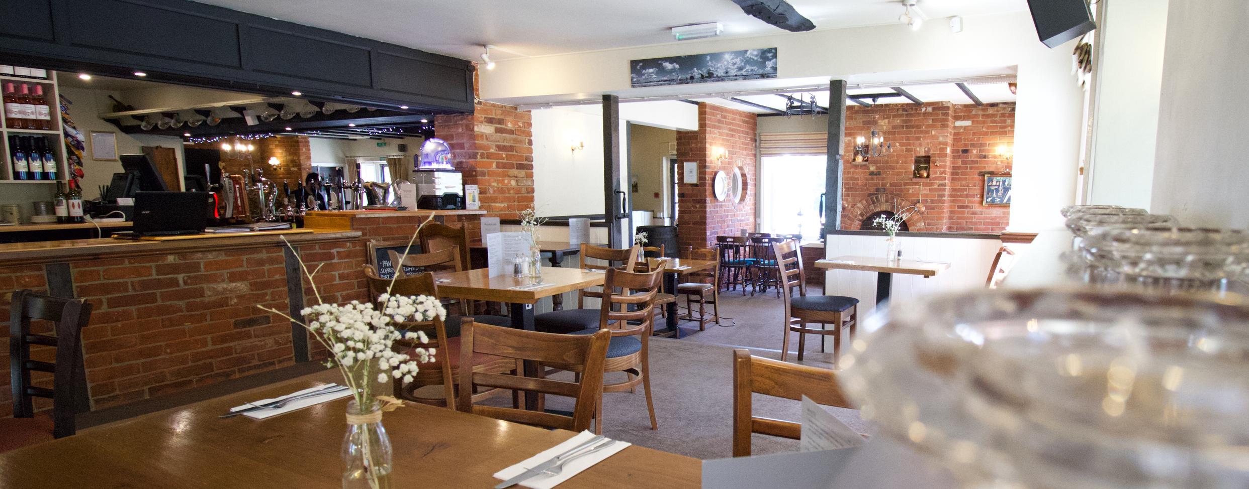 The Plough Inn Bar, Restaurant & Accommodation // Interior shot of the Plough Inn Restaurant // Home slider