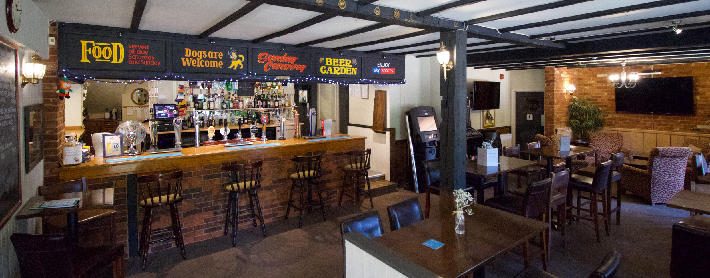 The Plough Inn Bar, Restaurant & Accommodation // Interior shot of the Plough Inn Bar // Home slider
